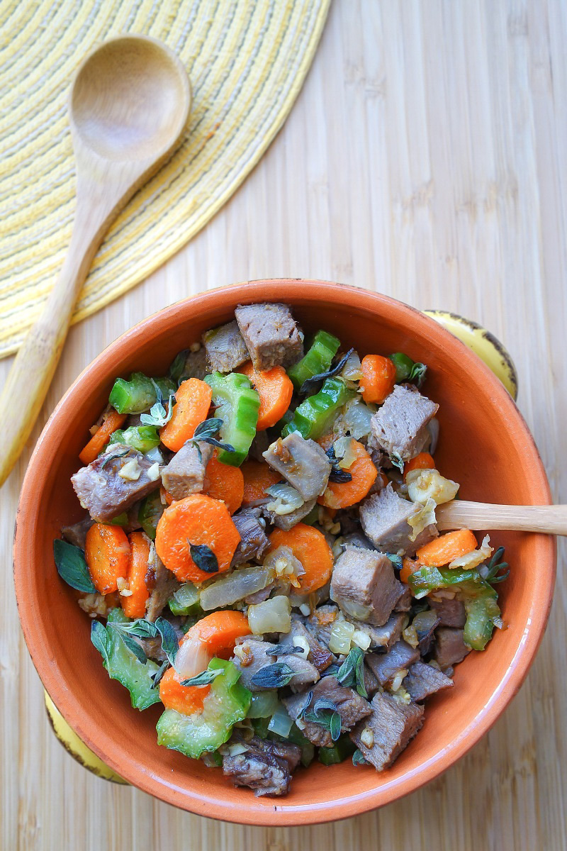 Gourd Luffa and Beef Tongue Stir Fry (AIP) - Zesty Paleo